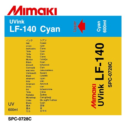 SPC-0728C Mimaki LF-140 UV Flex Ink Cyan 600ml