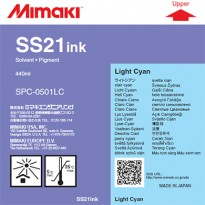 SS21 Solvent Ink Cartridge 440ml Light Cyan for Mimaki JV, CJV, TPC, TS series printers.